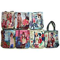 Текстильная женская сумка 7799 girls & color city