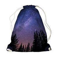 Детский рюкзак мешок с принтом Ночное небо