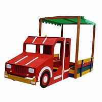 Детская песочница Пожарная машина с накрытием Sportbaby