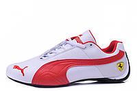 Мужские кроссовки Puma Ferrari Low  White Red