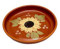 Блюдо керамическое художественная роспись диаметр 250 мм