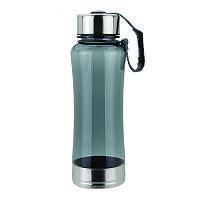 Спортивная бутылка для питья, усиленная, серого цвета. Возможно нанесение лого.
