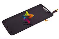 Дисплей для мобильного телефона Lenovo S650, черный, с тачскрином, ORIG