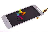 Дисплей для мобильного телефона Lenovo S650, белый, с тачскрином, ORIG