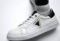 Кеды мужские  Ice berg  кроссовки мужские белые кожаные