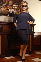Блуза Стефания горох большого размера 48-94 батал