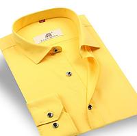 Мужская брендовая рубашка Slim Fit