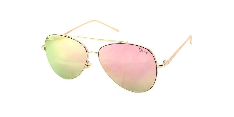 Красивые солнцезащитные женские очки Aviator Dior