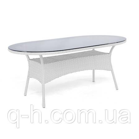 Большой обеденный стол Montana плетеный из искусственного ротанга, фото 2