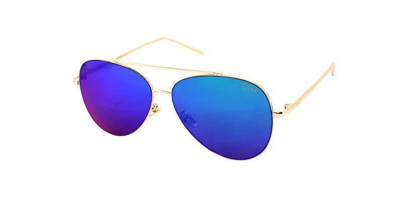 Стильные очки солнцезащитные авиаторы синие Dior