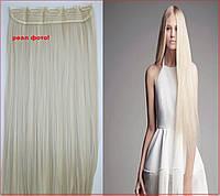 Волосы на КЛИПСАХ заколках #613 блонд ! в НАЛИЧИИ! накладные пряди,Тресы,реальные фото!