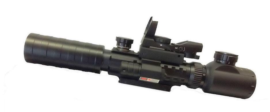 Прицел оптический 3-9x32 EG + лазерный целеуказатель + коллиматор ASG