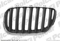 Решетка радиатора левая (хром/чёрная) на BMW X5 (E53) 01.99 - 05.03