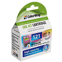 Картридж ColorWay для HP 121 XL Color (CC643HE)