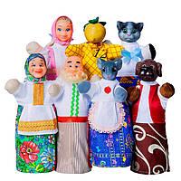"""Кукольный театр """"РЕПКА"""" (премиум упаковка, 7 персонажей, книжка)"""