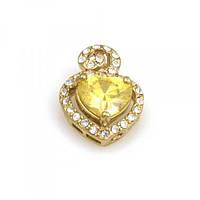"""Неподражаемый кулон с напылением золота """"Желтый кристалл"""""""