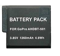 Аккумулятор AHDBT-501 для видеокамеры GoPro Hero 5, 1260 mAh.