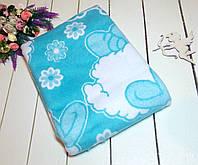 Одеяло байковое детское 110х140 см. Голубой
