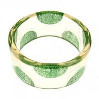 """Пластиковый браслет """"Зеленый горох"""""""