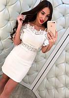 Жеснкое модное белое платье с открытыми плечиками, фото 1