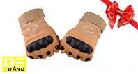 Тактические перчатки Oakley Военные , спортивные Коричневый
