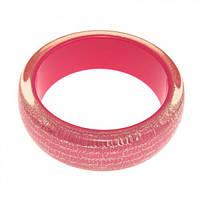 Розовый пластиковый браслет