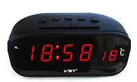 Часы в авто VST 803C-1, кварцевый стабилизатор, термометр, будильник с возможностью выбора мелодии