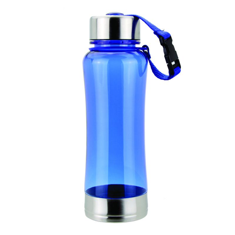 Спортивная бутылка для питья, усиленная, голубого цвета. Возможно нанесение лого., фото 1