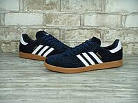 Кроссовки мужские Adidas Samba 30104 темно-синие