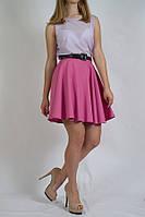 Короткая пышная  женская юбка стильная яркая  солнце клёш MEES Турция