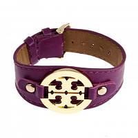 Шикарный фиолетовый кожаный браслет