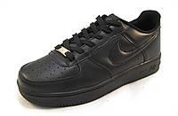 Кроссовки  Nike Air Force черные унисекс(найк аир форсы) (р.38)