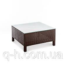Квадратный кофейный стол плетеный из искусственного ротанга Egypt, фото 3