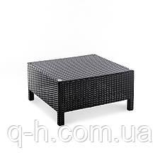Квадратный кофейный стол плетеный из искусственного ротанга Egypt, фото 2