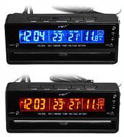 VST 7010V: автомобильные электронные часы, вольтметр, термометр, будильник, календарь, LCD дисплей