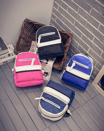 Милый двухцветный тканевый рюкзак, фото 2