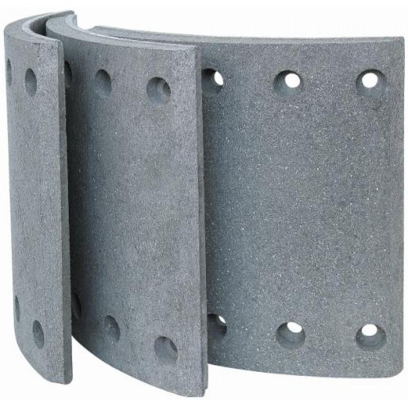 4689+1 Барабанные тормозные накладки с заклепками 19032 (1-ремонт) для BPW, KASSBOHRER, SAF (420*180)