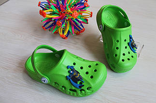 Зеленые кроксы для мальчика с супергероем тм Vitaliya р.28-29,30-31, фото 3