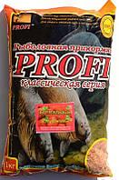 Прикормка для рыбы PROFI, Карп-Карась, Клубника, 1кг