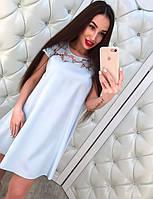 Женское модное свободное платье с кружевом (3 цвета), фото 1