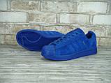 Кроссовки мужские Adidas Superstar Paris 30125 синие, фото 5