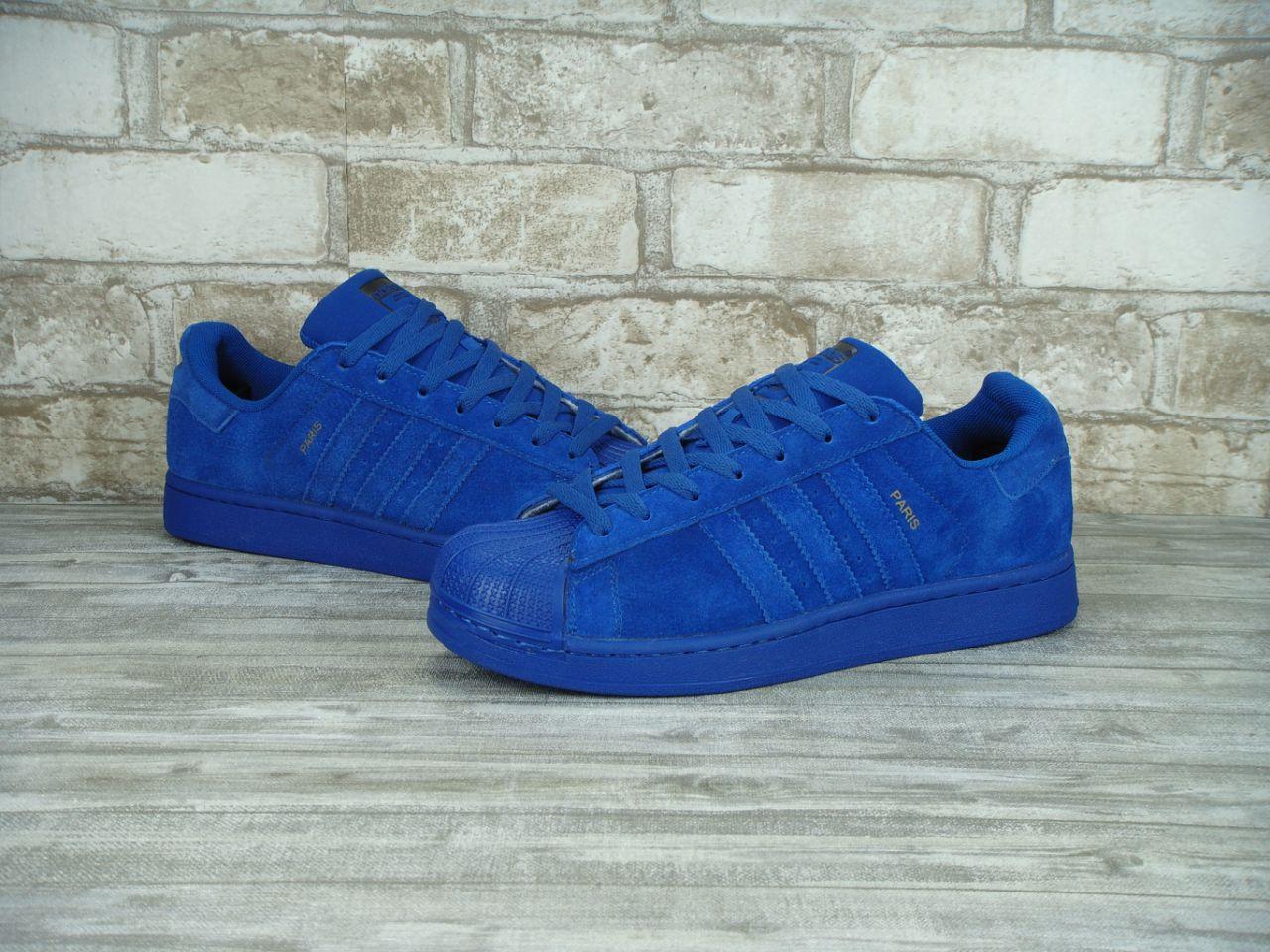 Кроссовки мужские Adidas Superstar Paris 30125 синие