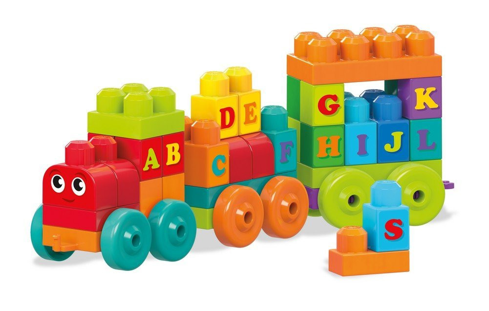 Конструктор Mega Bloks First Builders Поезд ABC DXH35