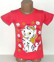 """Футболка """"Кошка Мэри"""" для девочек 4,5,6,7,8 лет"""