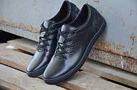 Мужские кожаные кроссовки Ecco 12054 черные