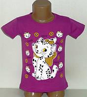 """Футболка """"Кошка Мэри"""" для девочек 5,6 лет"""