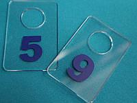Жетон для гардероба 40_60 мм голубой