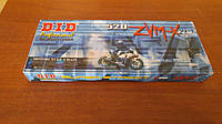 Мото цепь  520 DID 520ZVM-X 112 Стальная для мотоцикла ( в к-те замок ZJ) сальник X 2 -Ring