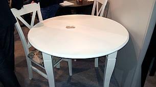 Стол круглый нераскладной Остин Микс мебель, цвет  белый, фото 2