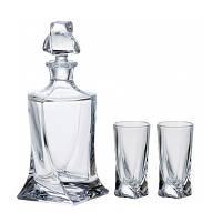 Набор для ликера 6 стаканов + графин (7пр.) BOHEMIA quadro b99999-99A44-164798